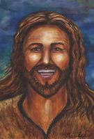Happy Jesus Card by Theresa Dedmon
