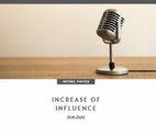 Increase of Influence by Seth Dahl