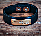 Leather Cuff Bracelet by The Crowning Jewels